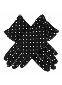 Dents Ladies spot glove with bow cuff