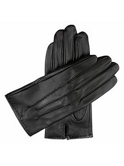Mens touchscreen leather gloves