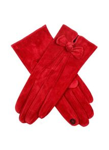Ladies pigsuede glove