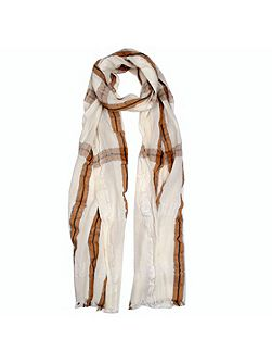 Ladies classic check woven scarf