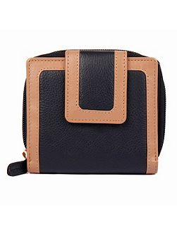 Ladies small zip round two colour purse