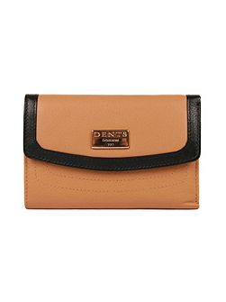 Ladies flap over two colour purse