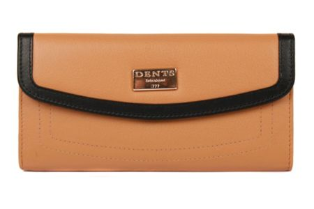 Dents Ladies flap over purse with outer pocket