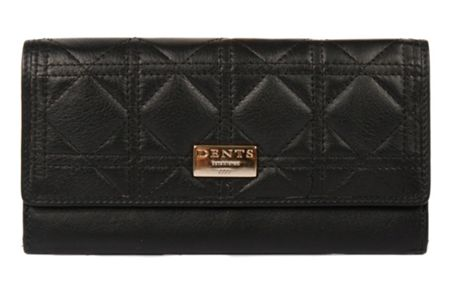 Dents Ladies flap over quilted purse