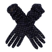 Ladies ruched lace glove