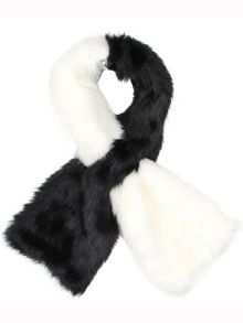 Ladies 2 tone pull through scarf