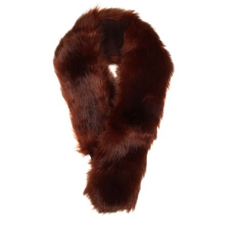 Dents Ladies faux fur collar