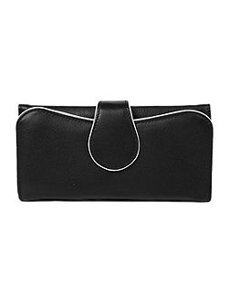 Ladies large flap over purse with popper