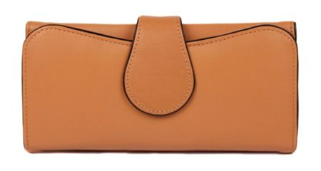 Dents Ladies large flap over purse with popper