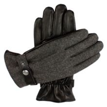 Dents Mens leather gloves with flannel back