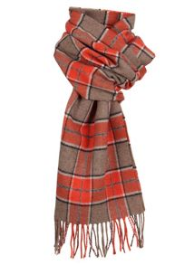 Dents mens check scarf