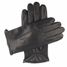 Dents Mens leather glove with warm lining