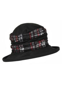Dents Ladies waxed cotton checkered hat