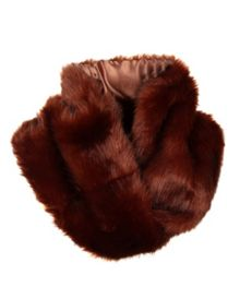 Ladies faux fur twisted eternity scarf