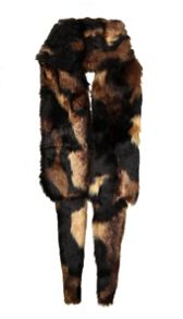 Ladies faux fur wrap scarf