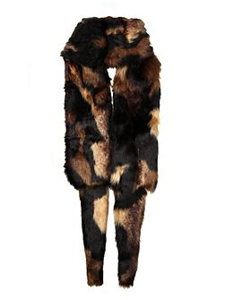 Dents Ladies faux fur wrap scarf