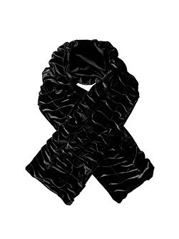 Women`s pleated velvet scarf