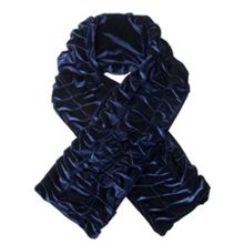 Dents Women`s pleated velvet scarf