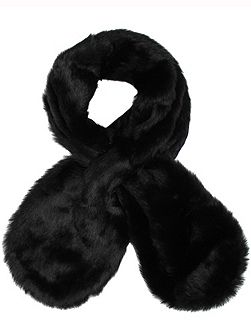 Dents Ladies faux fur pull through scarf