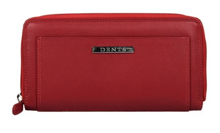 Dents Ladies soft east west zip round purse