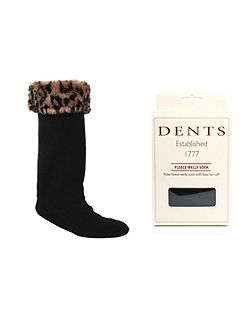 Ladies fleece boot socks