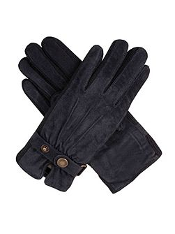 Ladies fancy suede gloves with knitted sidewalls