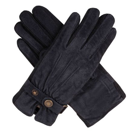 Dents Ladies fancy suede gloves with knitted sidewalls