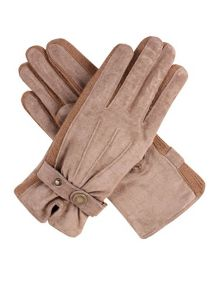 Dents Ladies fancy suede gloves with knit sidewalls
