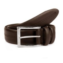 Dents Mens double stitched leather belt