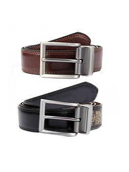 Mens reversible leather belt
