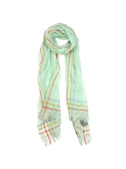 Ladies striped edge woven scarf