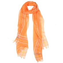 Dents Ladies striped edge woven scarf