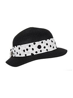 Ladies paperstraw pull on sunhat