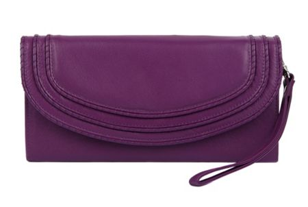 Dents Ladies flap over purse with handle