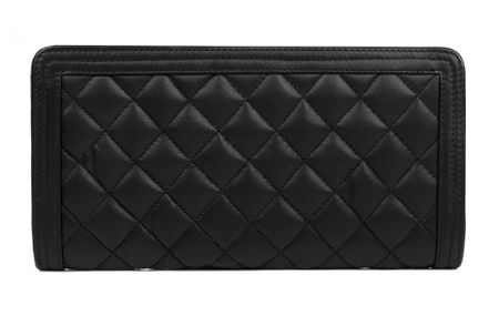 Dents Ladies zip round quilted purse