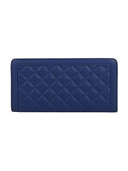 Ladies zip round quilted purse