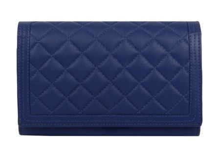 Dents Ladies quilted flap over purse