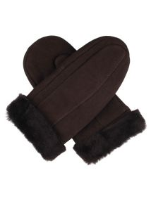 Ladies sheepskin mittens
