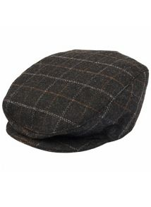 Mens check flat cap
