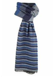 Dents mens striped scarf