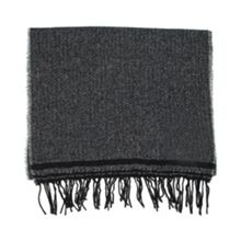 Dents mens striped edge scarf