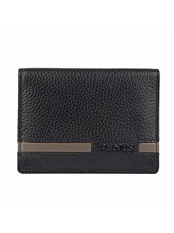 Mens Stripe Bi-Fold Wallet