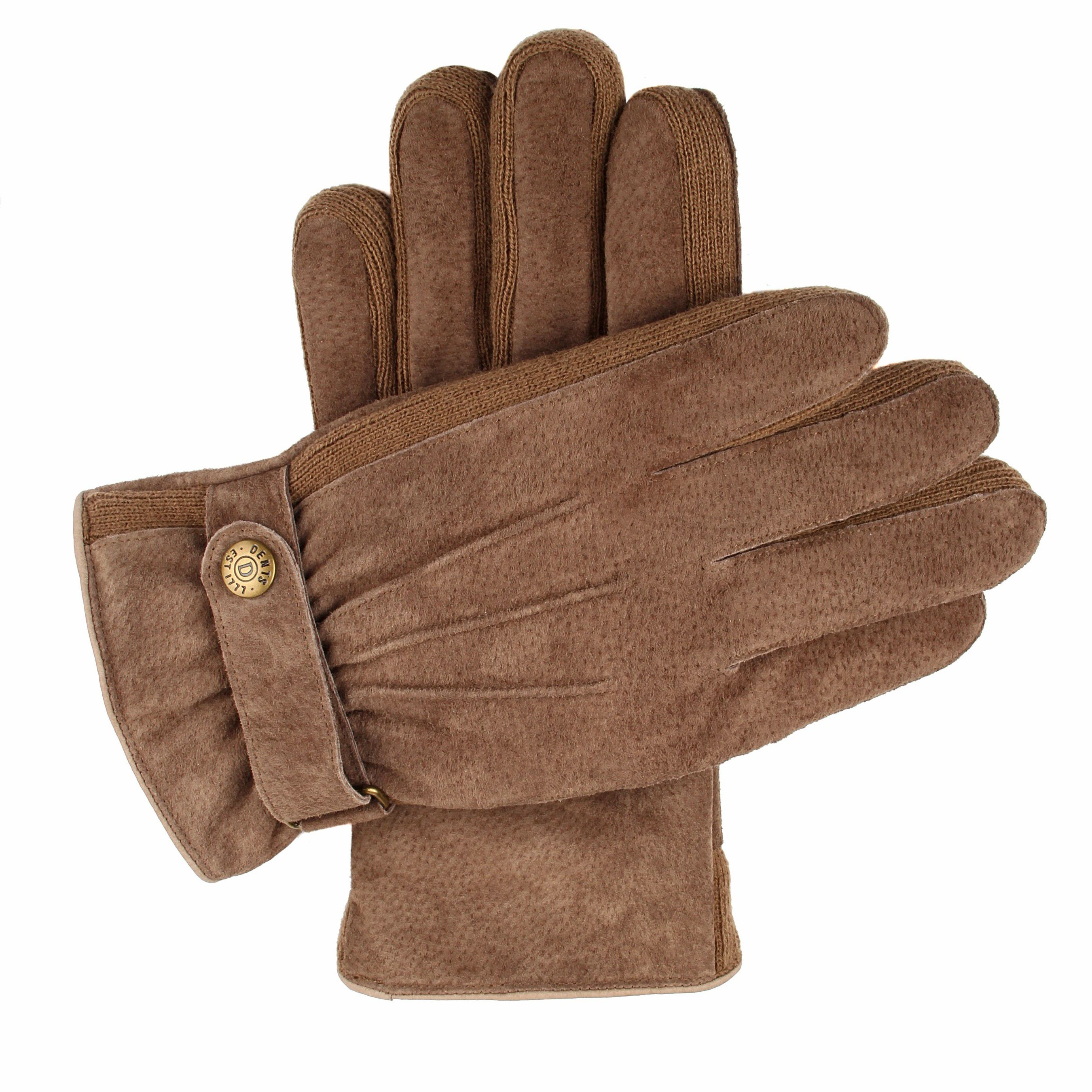 Dents Dents Mens casual suede gloves, Oatmeal