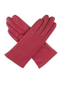 Ladies leather acrylic lined gloves