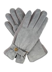 Dents Ladies suede gloves with knitted sidewalls