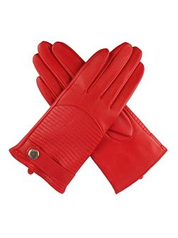 Women`s quilted back leather gloves
