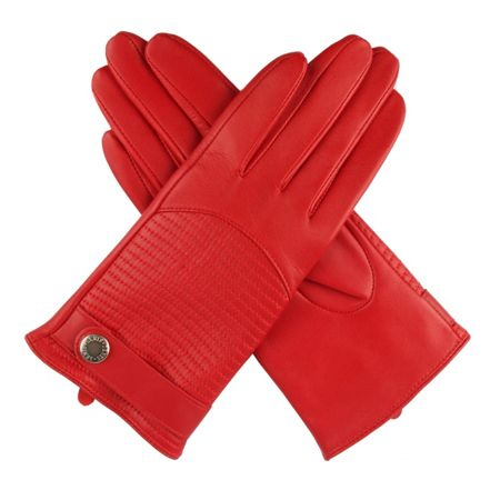 Dents Womens quilted back leather  gloves