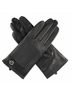 Ladies quilted back leather gloves