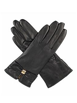 Dents Ladies leather gloves with bow detail