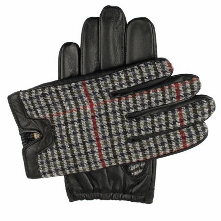 Dents Mens leather gloves with fabric back